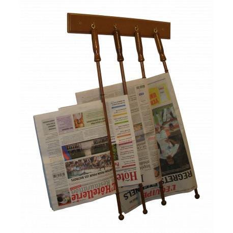 Présentoir Mural 4 baguettes à journaux